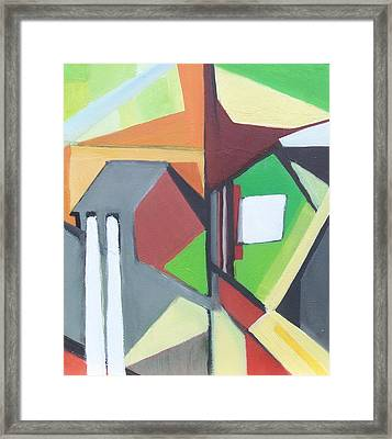 A Jersey Abstraction Framed Print