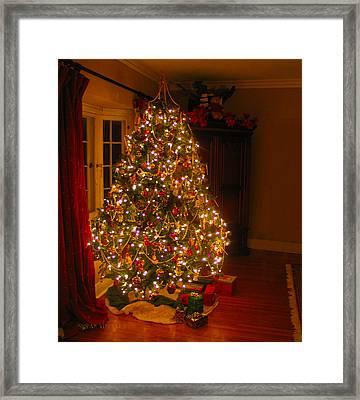 A Jewel Of A Christmas Tree Framed Print