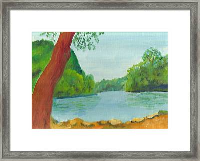 A June Day At Hidden Falls Framed Print