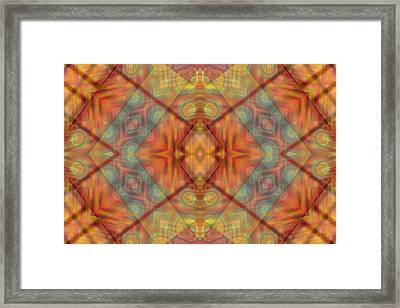 A Kaleidoscope Of Colors Framed Print by Gina Lee Manley