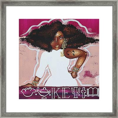 A Key Girl Framed Print