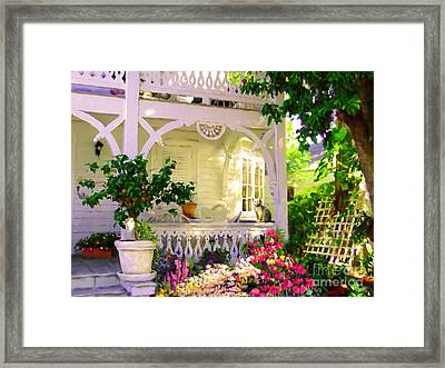 A Key West Porch Framed Print by David  Van Hulst