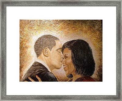 A Kiss For A Queen  Framed Print