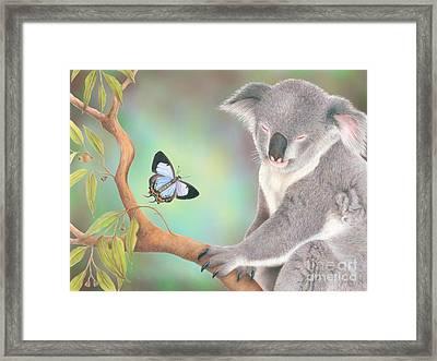 A Kiss For Koala Framed Print by Karen Hull