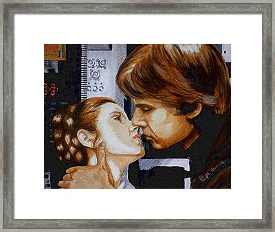 A Kiss From A Scoundrel Framed Print by Al  Molina