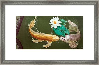 Framed Print featuring the painting A Kiss Is Just A Kiss by Dan Menta