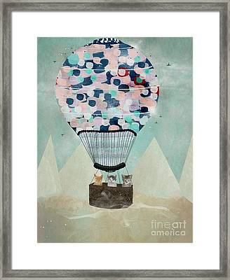 Framed Print featuring the painting A Kitten Adventure by Bri B