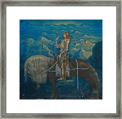 A Knight Rode On Framed Print
