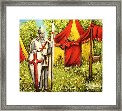 A Knights' Rest Framed Print