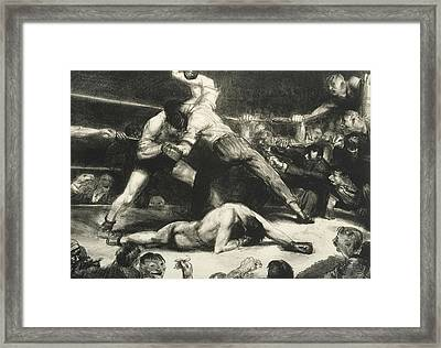 A Knock-out Framed Print by George Bellows