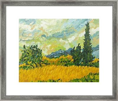 A La Van Gogh Framed Print