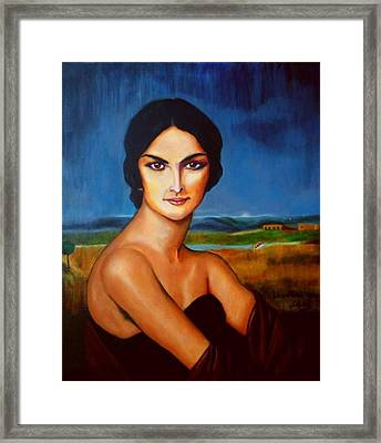 A Lady Framed Print by Manuel Sanchez