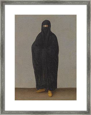 A Lady Of Constantinople Framed Print by Continental School