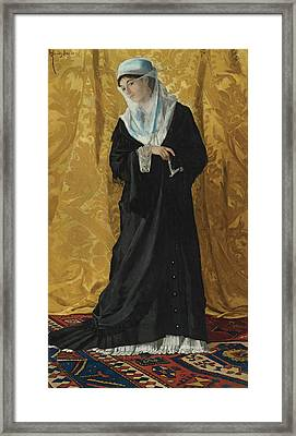 A Lady Of Constantinople Framed Print