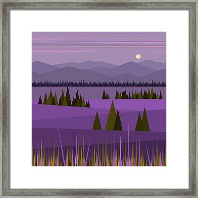 A Lake In The Mountains Framed Print
