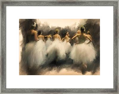 A Lamentation Of Swans Framed Print by H James Hoff