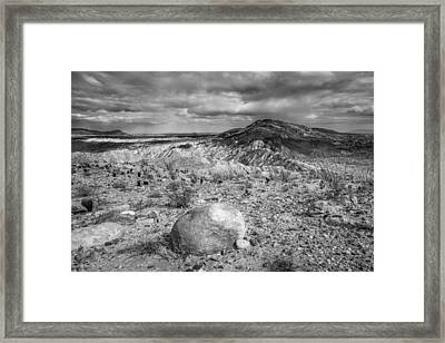 A Land Untamed - Black And White Framed Print by Alexander Kunz