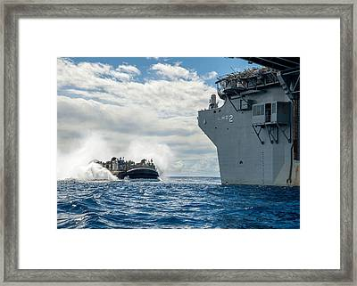 A Landing Craft Air Cushion Framed Print by Celestial Images