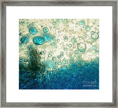 A Landscape Of Bubbles By Kaye Menner Framed Print by Kaye Menner