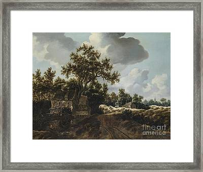 A Landscape With A Road  Framed Print by MotionAge Designs