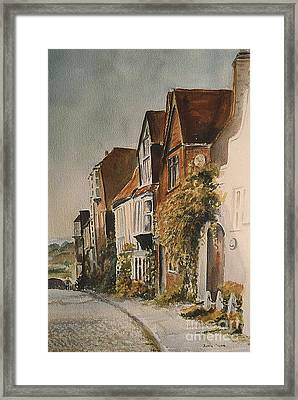 Framed Print featuring the painting A Lane In Rye by Beatrice Cloake