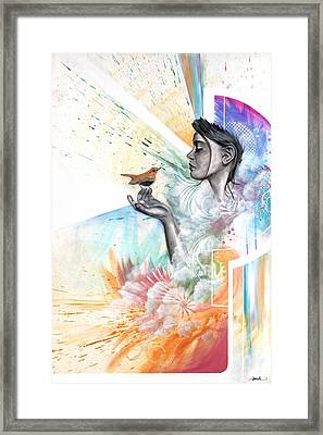 A Language Distilled By Time. Let In The Light Framed Print by Douglas Kleinsmith