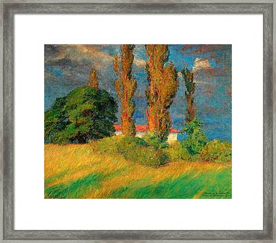 A Last Glimpse Of The Sun Framed Print by Prins Eugen