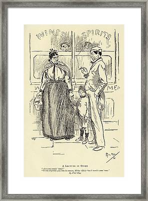 A Lecture In Store By Phil May 1864 To Framed Print by Vintage Design Pics