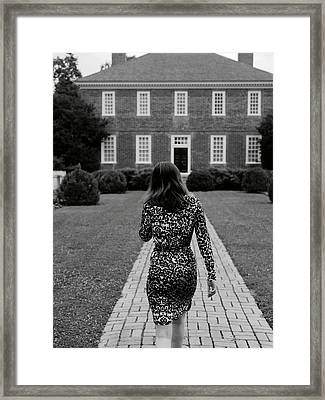 A Leopard Dress Framed Print