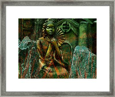 A Life Of Meditation Framed Print by Bliss Of Art