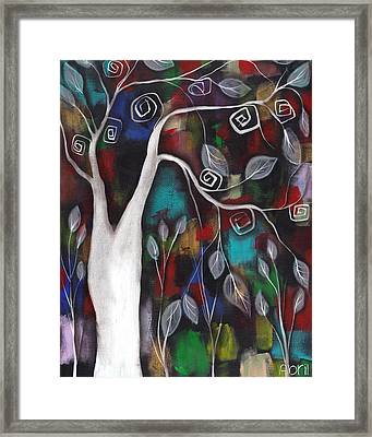A Lifetime Of Color Framed Print by  Abril Andrade Griffith