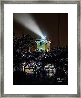 Framed Print featuring the photograph A Light In The Darkness by Nick Zelinsky
