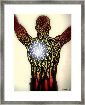 A Light In The Midst Of So Much Suffering Framed Print by Paulo Zerbato