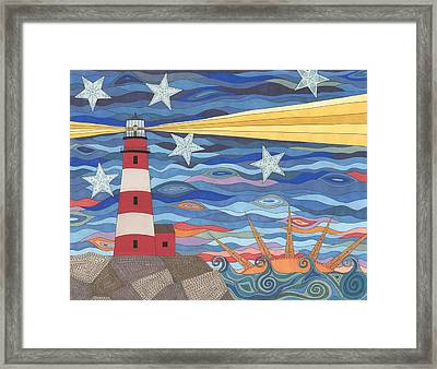 A Light In The Night Framed Print