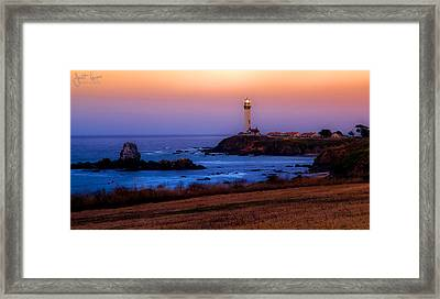 A Light On A Rock  Framed Print