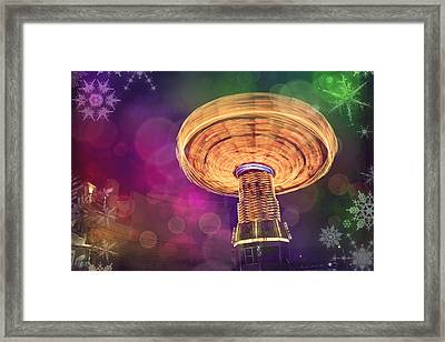 A Light Spin Framed Print