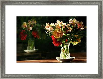 A Light Through Yonder Window Breaks Framed Print