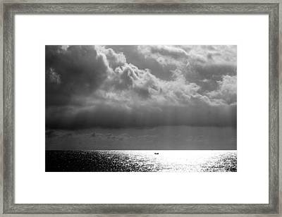 A Light Will Shine Down Framed Print
