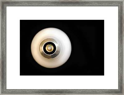A Lightbulb Framed Print by Dan Holm