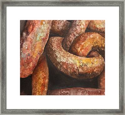 Framed Print featuring the painting A Lil' Rusty by Rachel Hames