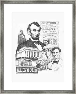 A. Lincoln Framed Print