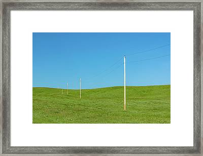A Line Divides Framed Print by Todd Klassy