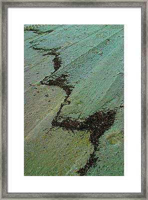 A  Line  In  The  Sand Framed Print