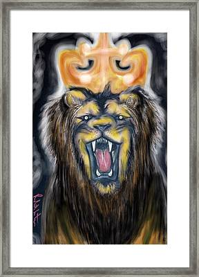 A Lion's Royalty Framed Print
