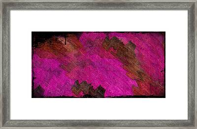A Lipstick Scrawl Framed Print by Terry Mulligan