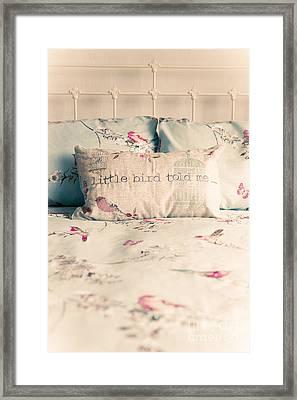 A Little Bird Told Me Framed Print by Amanda Elwell