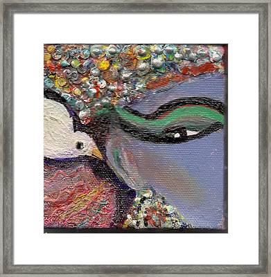 A Little Bird Told Me Framed Print by Anne-Elizabeth Whiteway