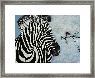 A Little Bird Told Me Framed Print by Susan Robinson