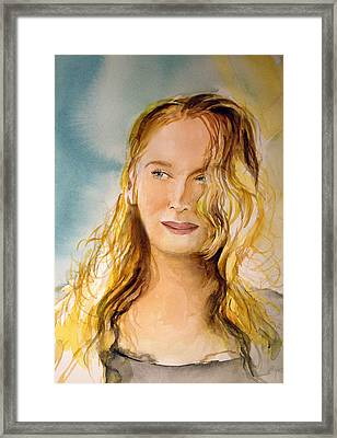 Framed Print featuring the painting A Little Bit Of Meryl by Allison Ashton