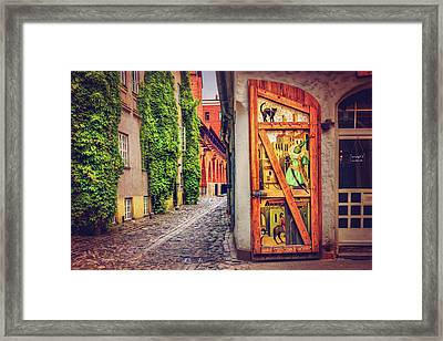 A Little Corner Of Riga  Framed Print by Carol Japp